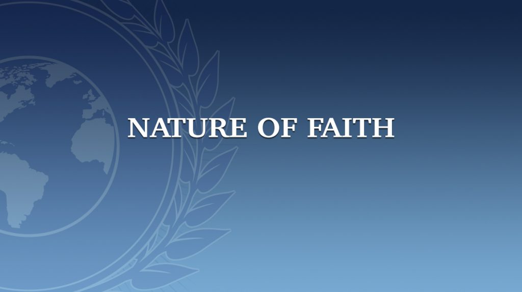 Nature of Faith