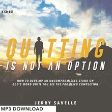 Picture of Quitting Is Not An Option - MP3 Download