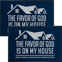 Picture of Doormat - The Favor Of God Is On My House x2